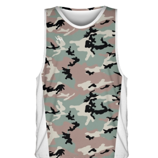 Green Camouflage Basketball Jerseys