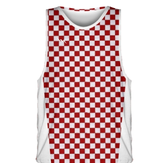 Red Checker Board Basketball Jerseys