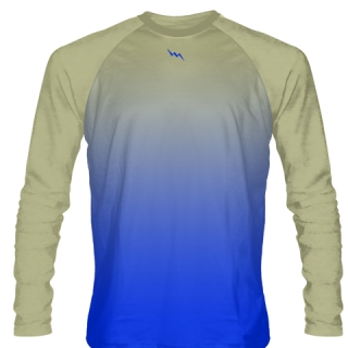 Royal Blue Long Sleeve Hockey Shirts
