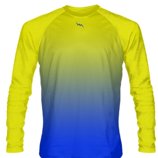 Yellow Long Sleeve Hockey Shirts