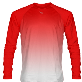 Red Long Sleeve Hockey Shirts