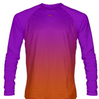 Purple Long Sleeve Hockey Shirts