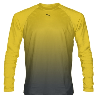 Athletic Gold Long Sleeve Hockey Shirts