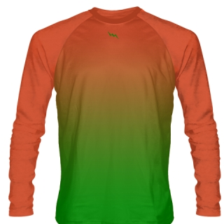 Kelley Green Long Sleeve Hockey Shirts