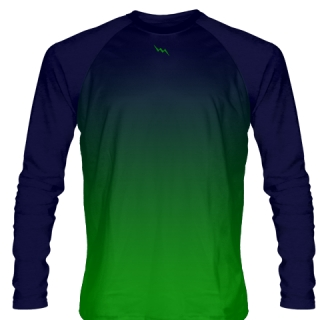 Navy Blue Long Sleeve Hockey Shirts