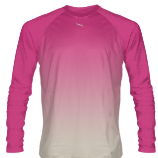 Hot Pink Long Sleeve Hockey Shirts