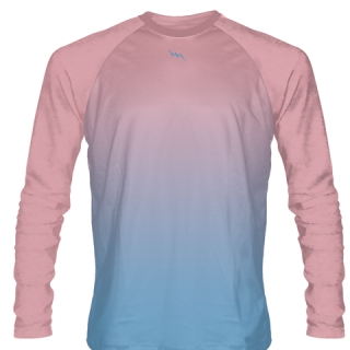 Pink Ice Hockey Shirts Long Sleeved