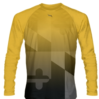 Maryland Flag Gold Long Sleeve Shirts