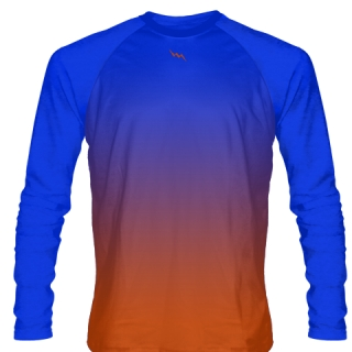 Royal Blue Long Sleeve Ice Hockey Shirts