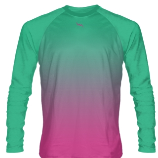 Teal Long Sleeve Hockey Shirts
