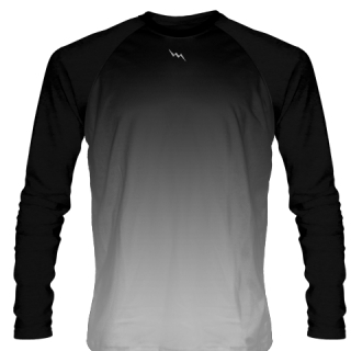 Black Long Sleeve Ice Hockey Shirts