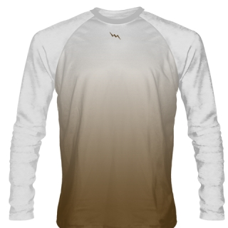 Brown Long Sleeved Ice Hockey Shirts