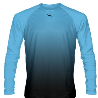 Powder Blue Long Sleeve Hockey Shirts