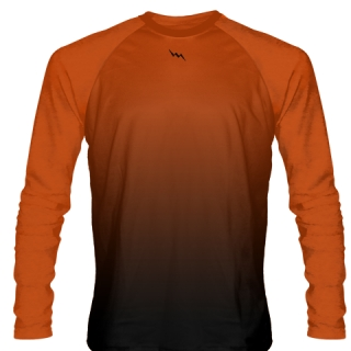 Orange Long Sleeve Hockey Practice Shirts