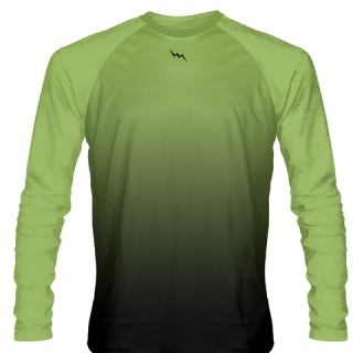 Lime Green Long Sleeve Ice Hockey Shirts