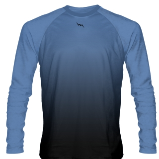 Carolina Blue Long Sleeve Ice Hockey Shirts