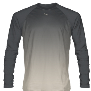 Charcoal Gray Long Sleeve Ice Hockey Shirts