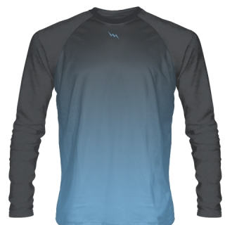 Columbia Blue Long Sleeve Hockey Shirts