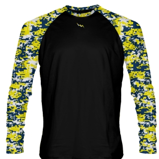 Digital Camouflage Long Sleeve Hockey Shirts
