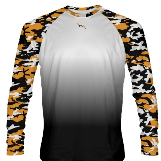 Orange Camouflage Basketball Shooter Shirts Long Sleeve