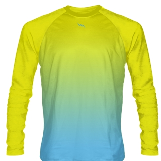 Yellow Long Sleeve Field Hockey Shirts