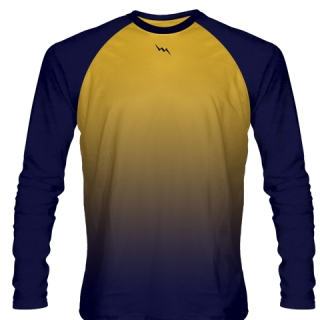 Navy Blue Long Sleeve Field Hockey Shirts