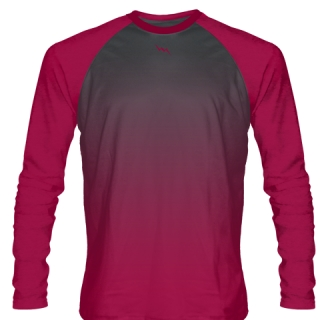 Cardinal Red Long Sleeve Field Hockey Shirts