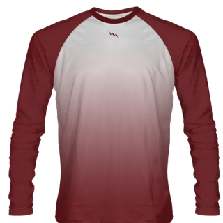 Maroon Long Sleeve Field Hockey Shirts