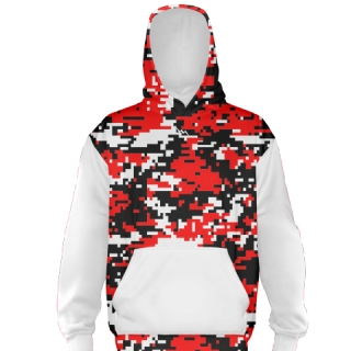 Red Camouflage Basketball Sweatshirts