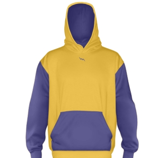 Athletic Gold Basketball Sweatshirts