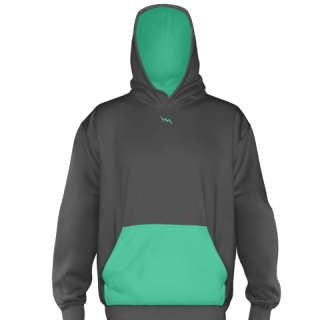 Teal Basketball Hooded Sweatshirts
