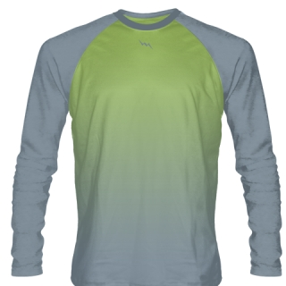 Lime Green Long Sleeve Football Shirts