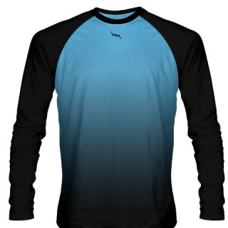 Powder Blue Long Sleeve Football Shirts