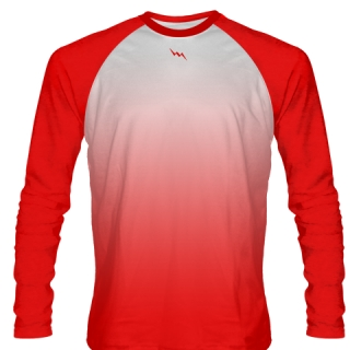 Red Long Sleeve Football Practice Shirts