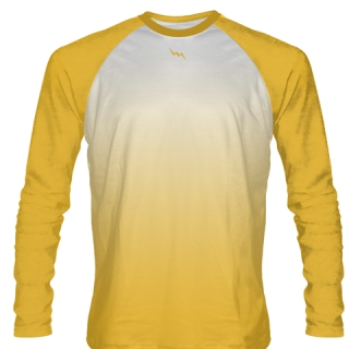 Athletic Gold Long Sleeve Football Shirts