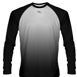 Black Long Sleeve Football shirts