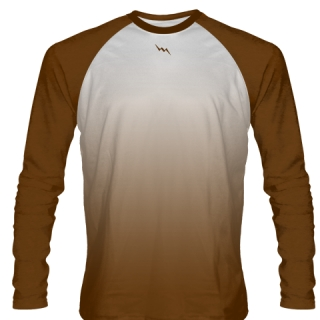 Brown Long Sleeve Football Shirts