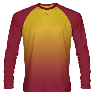Cardinal Red Long Sleeve Football Shirts