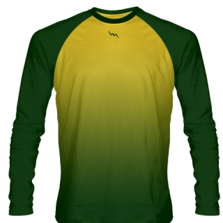Dark Green Long Sleeve Football Shirts