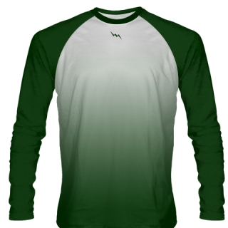 Forest Green Long Sleeve Football Shirts