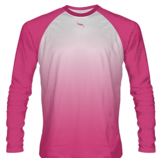 Hot Pink Long Sleeve Football Shirts