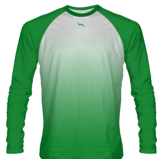 Kelly Green Long Sleeve Football Shirts