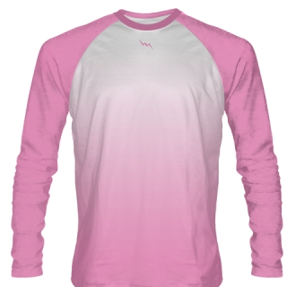 Light Pink Long Sleeve Football Shirts