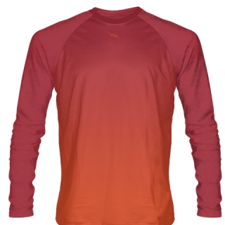 Maroon Long Sleeve Football Shirts
