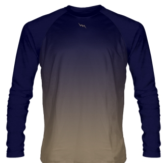 Navy Blue Long Sleeve Football Shirts
