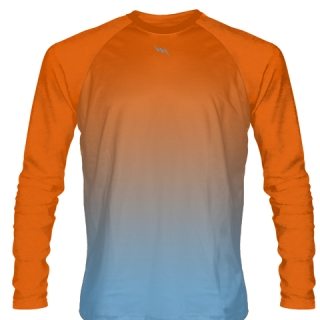Orange Long Sleeve Football Shirts