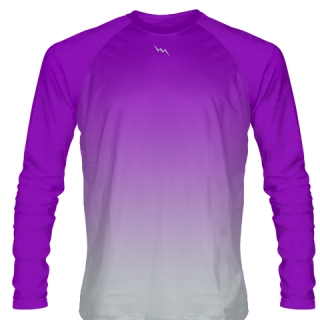 Purple Long Sleeve Football Shirts