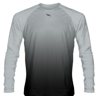 Silver Long Sleeve Football Shirts