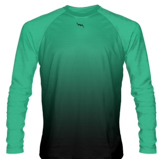 Turquoise Long Sleeve Football Shirts