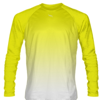 Yellow Long Sleeve Football Shirts